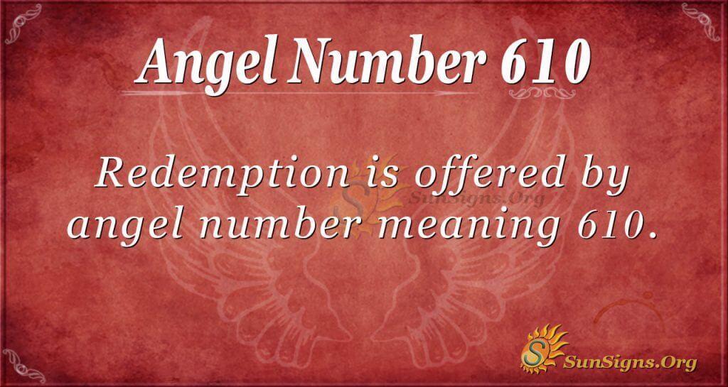 angel number 610