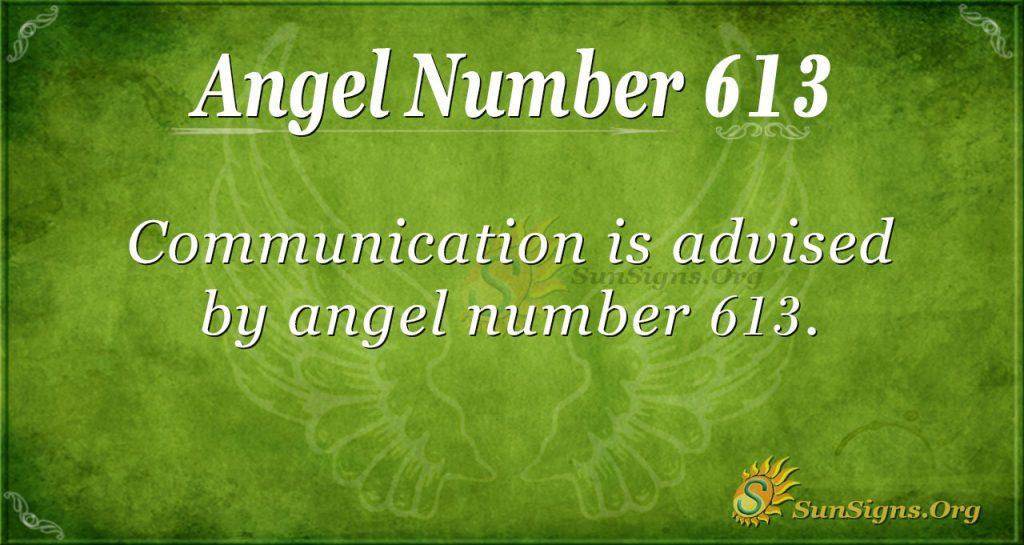 angel number 613