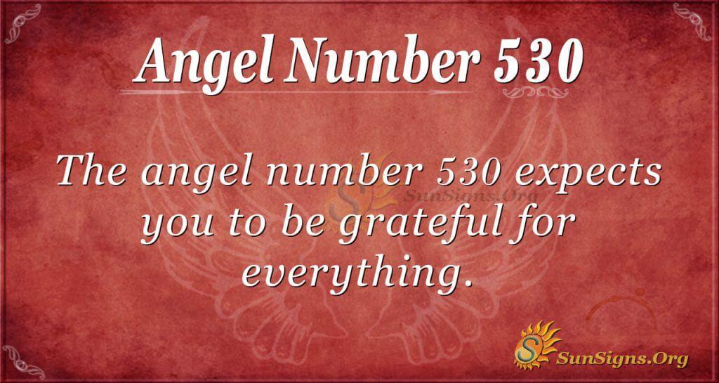 Angel Number 530