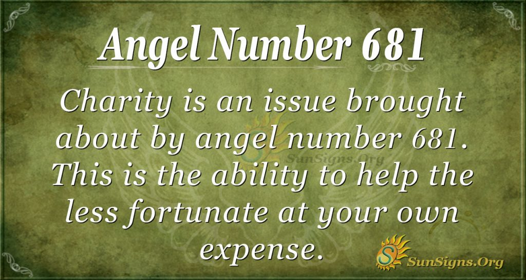 Angel Number 681