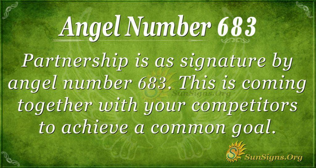 Angel Number 683