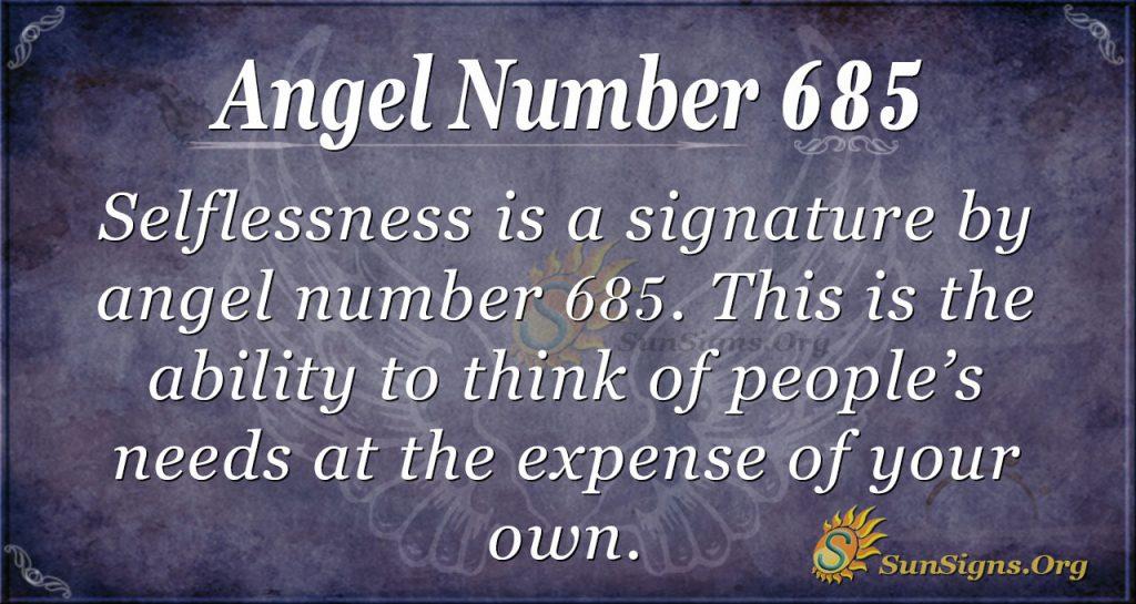 Angel Number 685