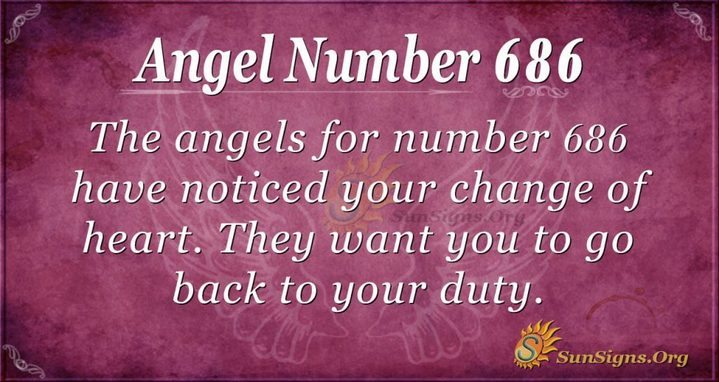 Angel Number 686