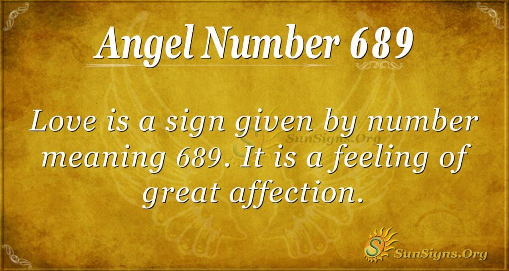 Angel Number 689