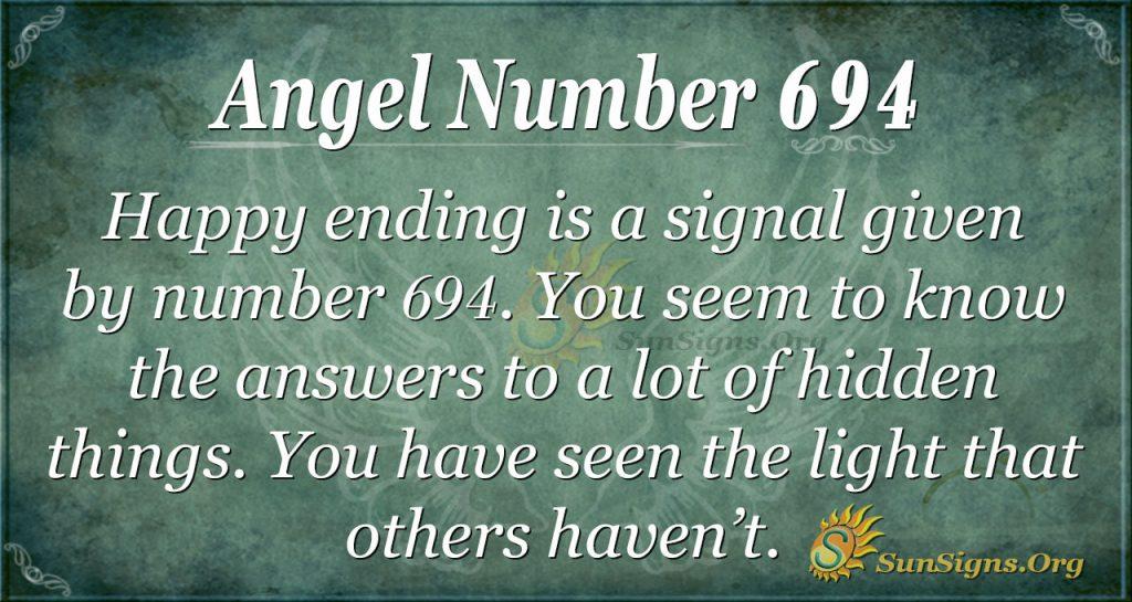 Angel Number 694