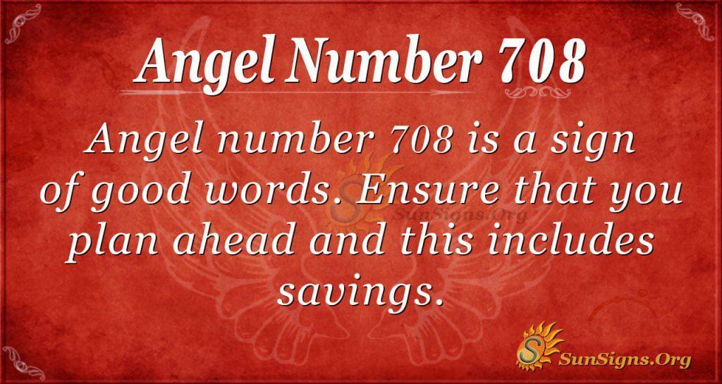 Angel Number 708