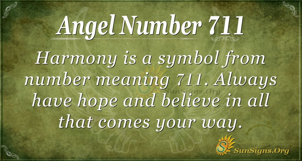 Angel Number 711