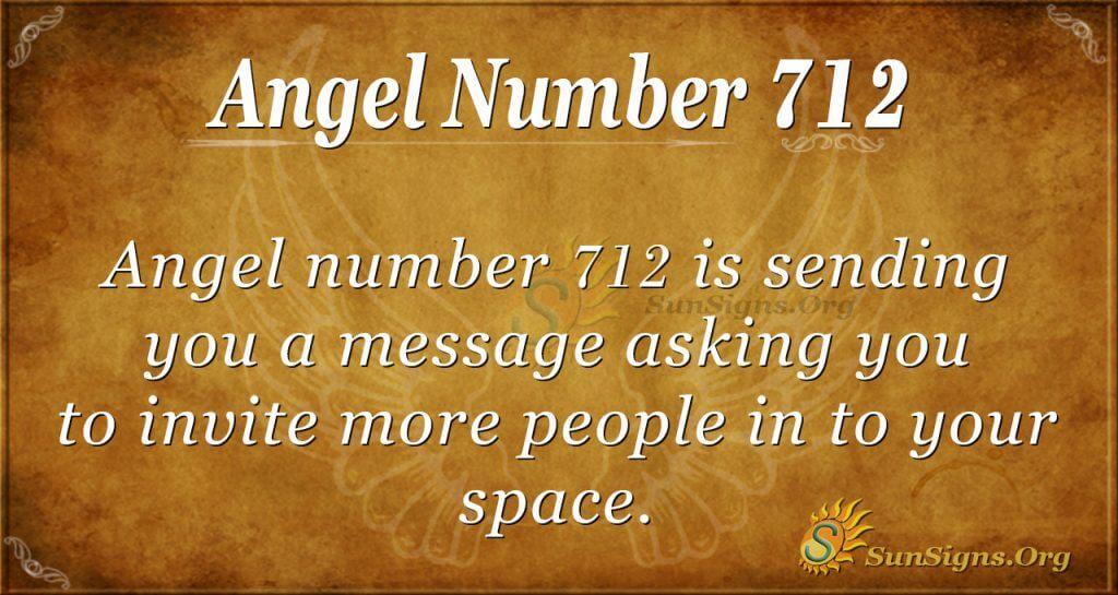 Angel Number 712