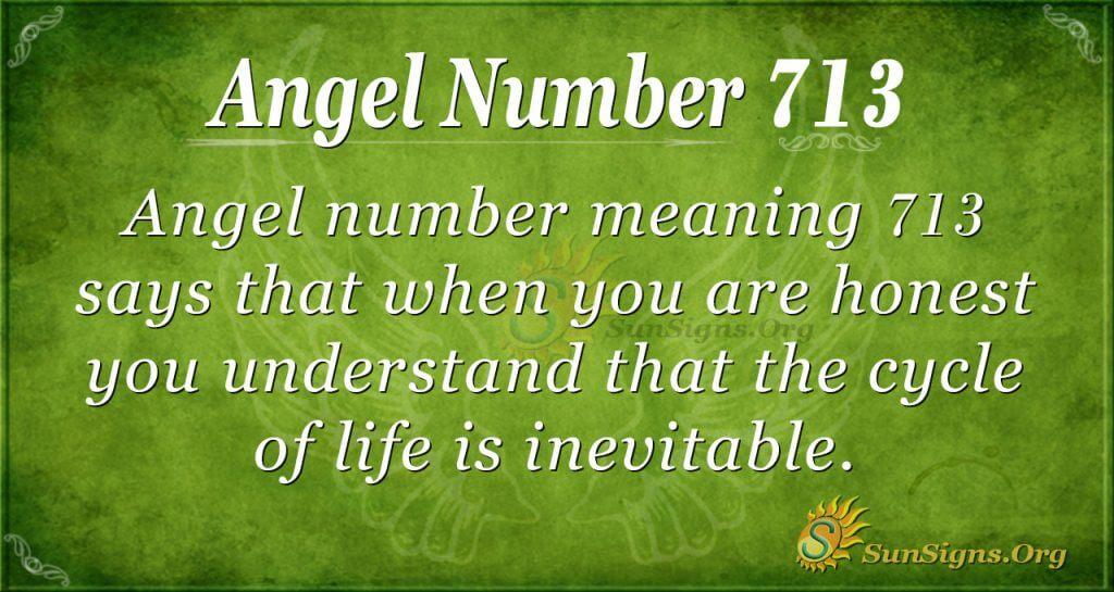 Angel Number 713