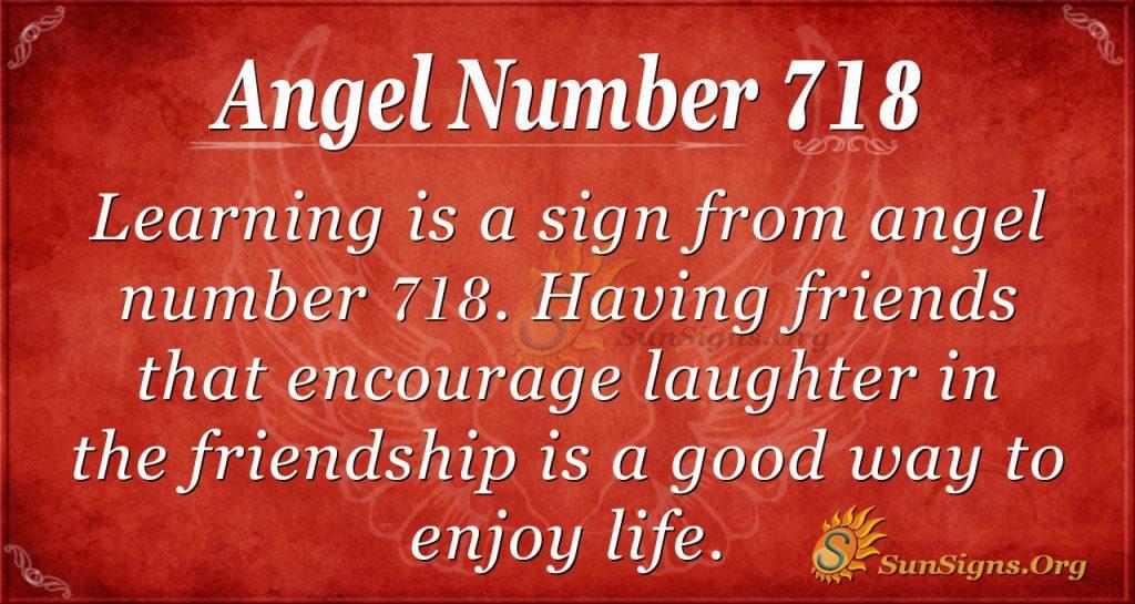 Angel Number 718