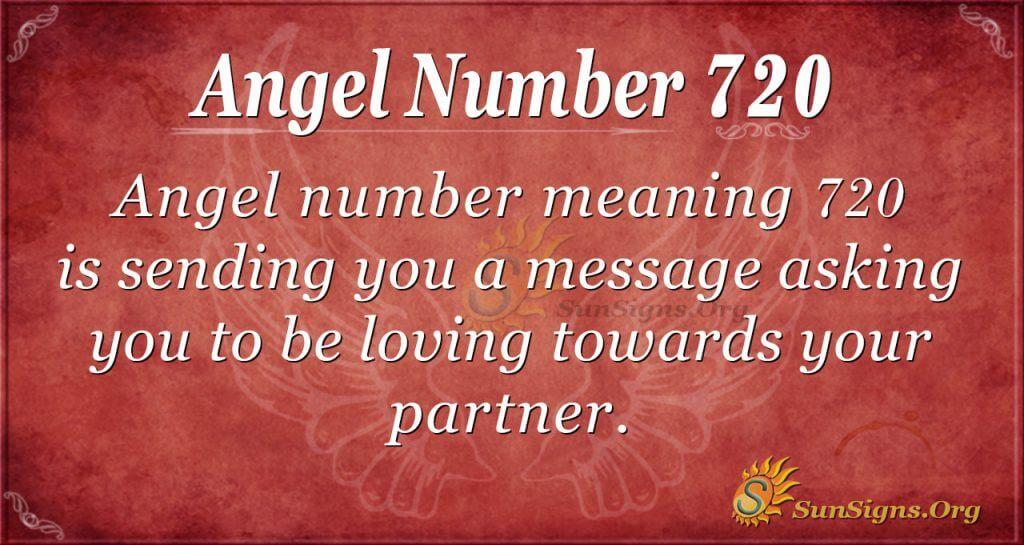 Angel Number 720