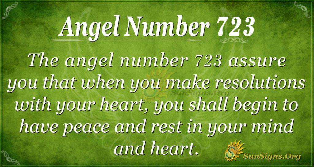 Angel Number 723