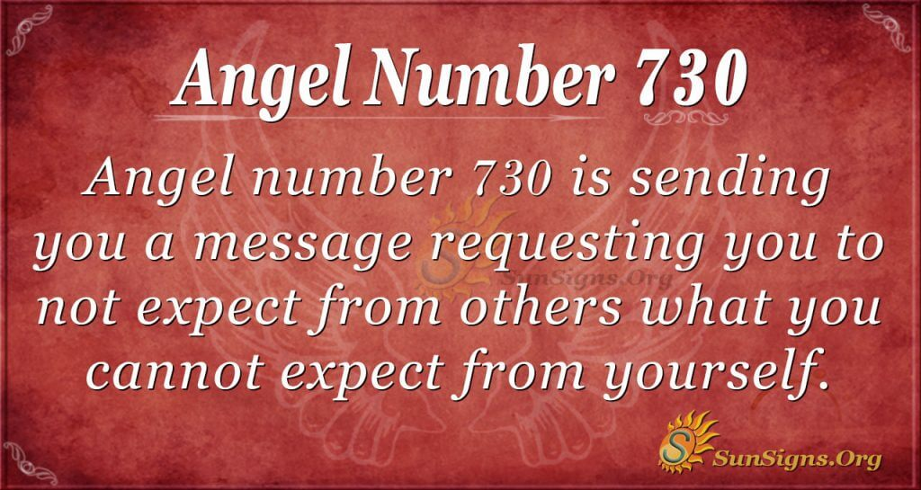 Angel Number 730