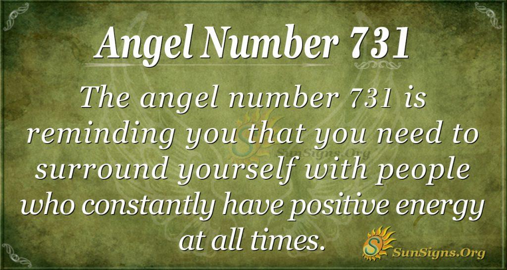 Angel Number 731