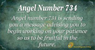 Angel Number 734