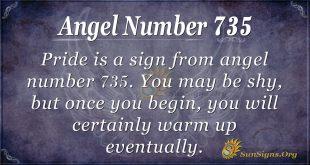 Angel Number 735