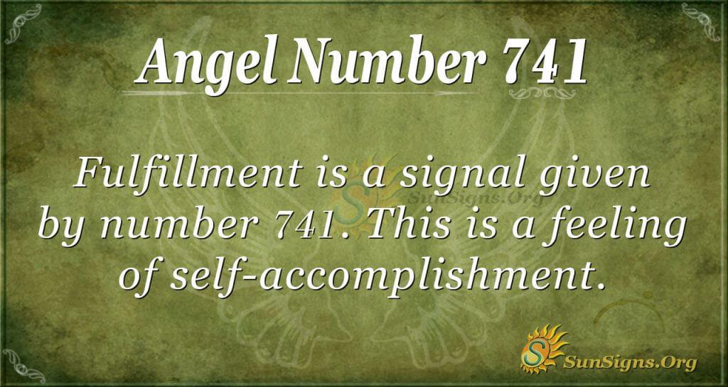 Angel Number 741