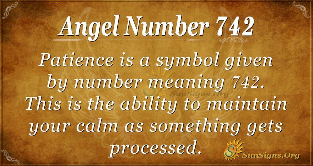 Angel Number 742