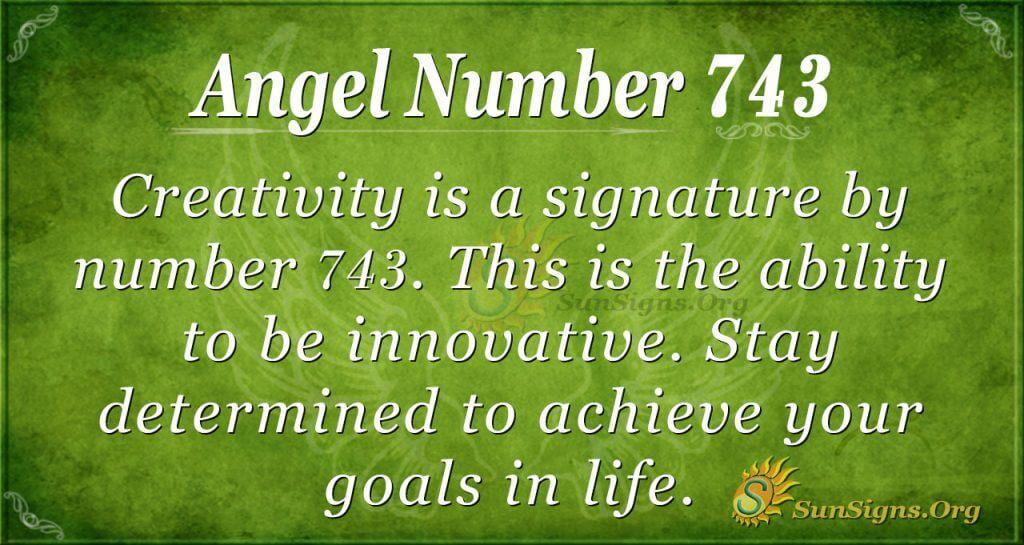 Angel Number 743