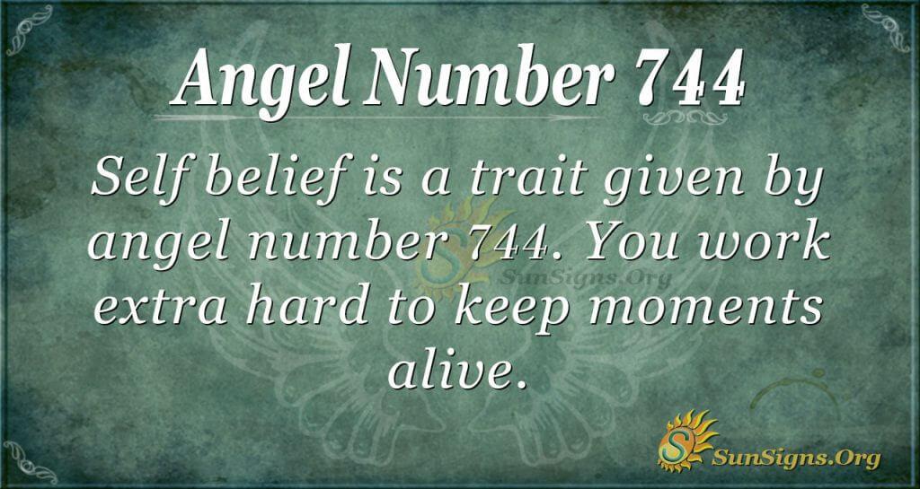 Angel Number 744