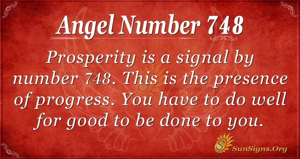 Angel Number 748