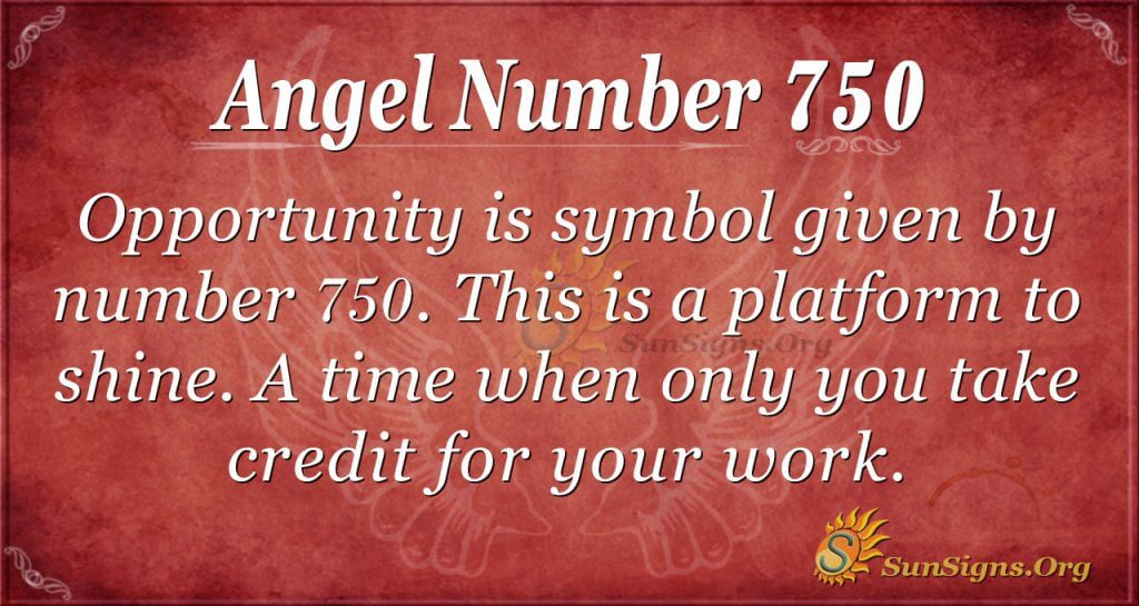 Angel Number 750