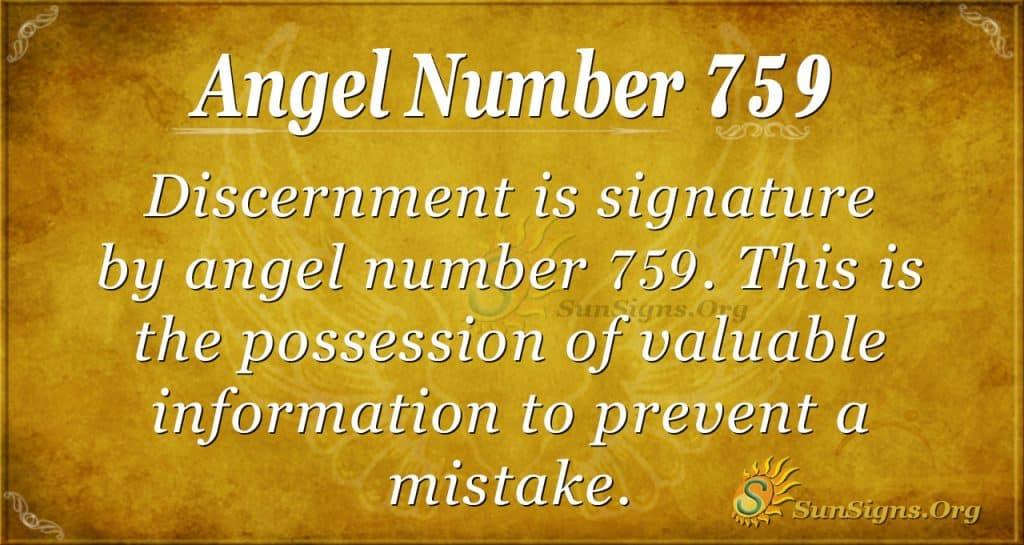 Angel Number 759