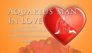 aquarius man in love