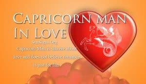 capricorn man in love
