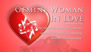 gemini woman in love