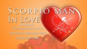 scorpio man in love