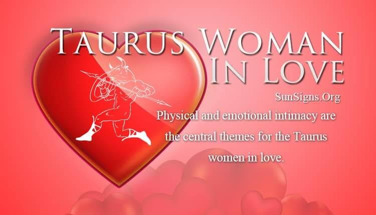 taurus woman in love