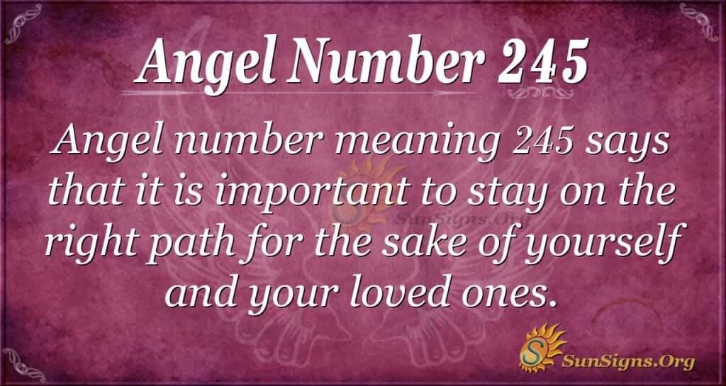 angel number 245