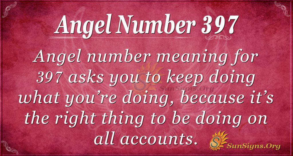 Angel Number 397