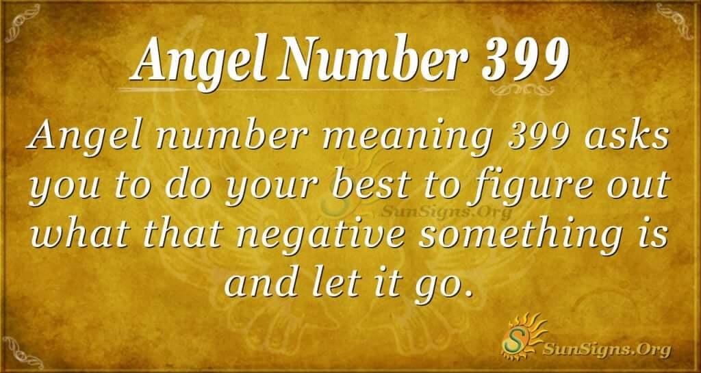 Angel Number 399