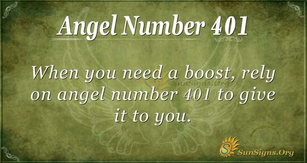 Angel Number 401