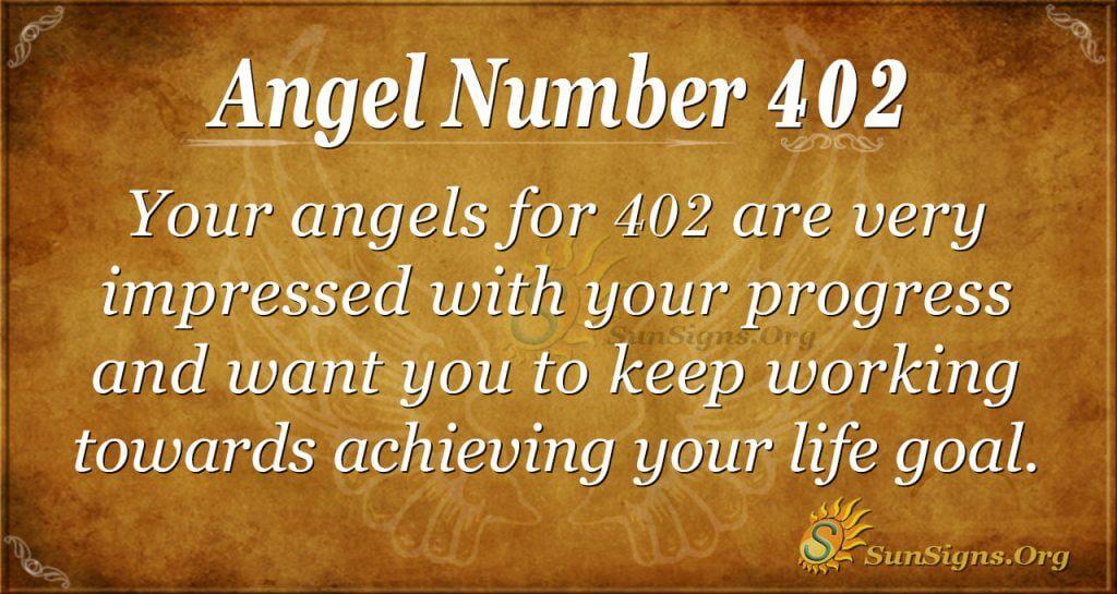 Angel Number 402