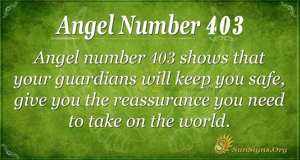 Angel Number 403