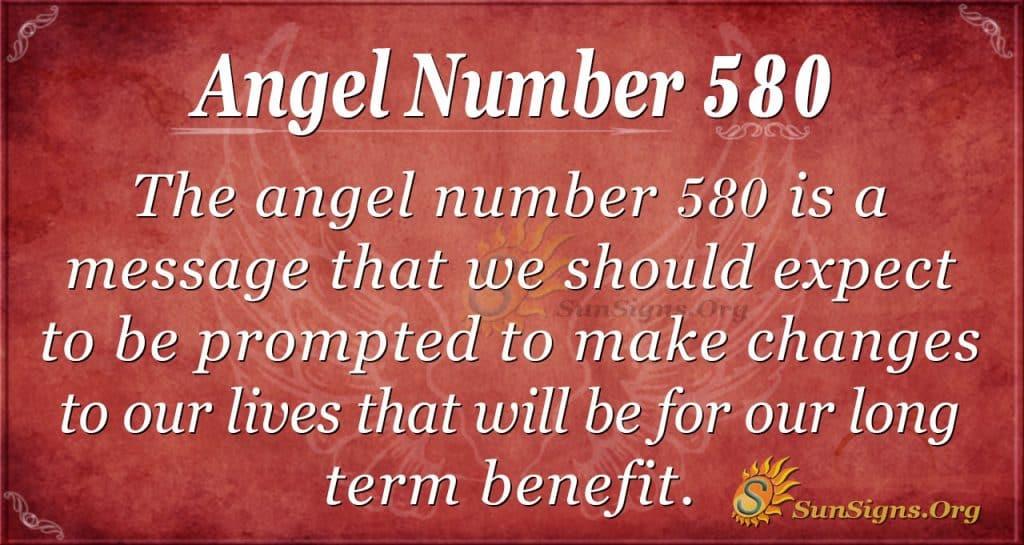 angel number 580