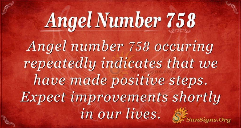 Angel Number 758