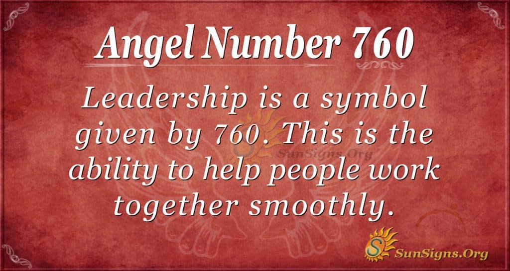 Angel Number 760