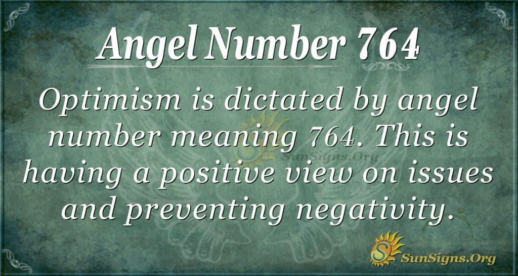 Angel Number 764