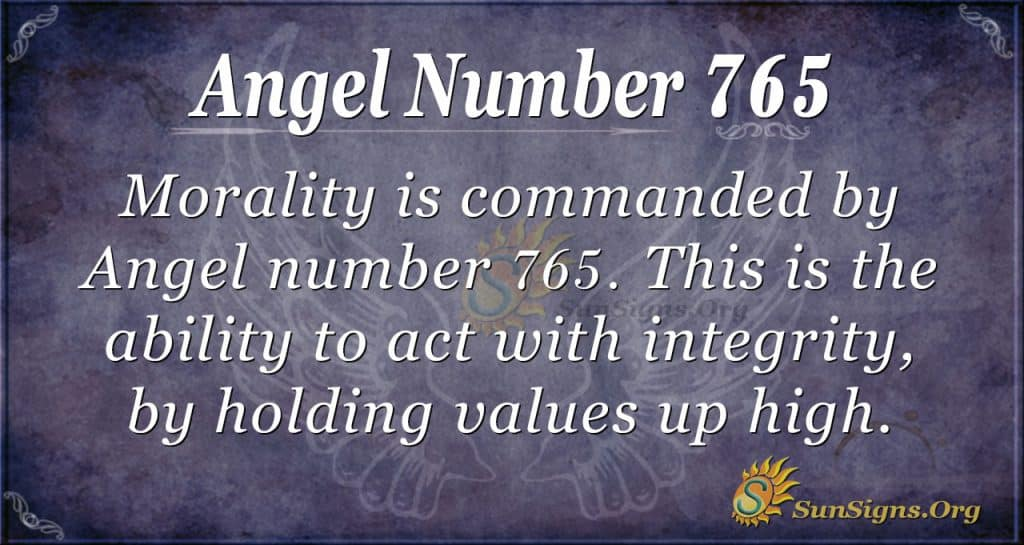 Angel Number 765
