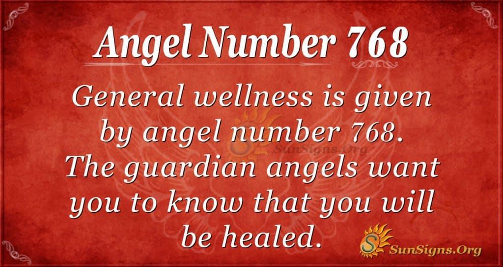 Angel Number 768