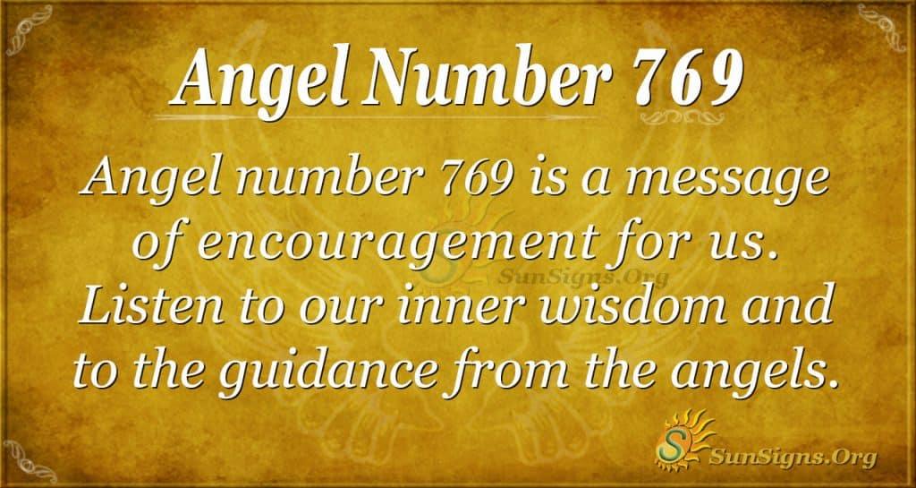 Angel Number 769
