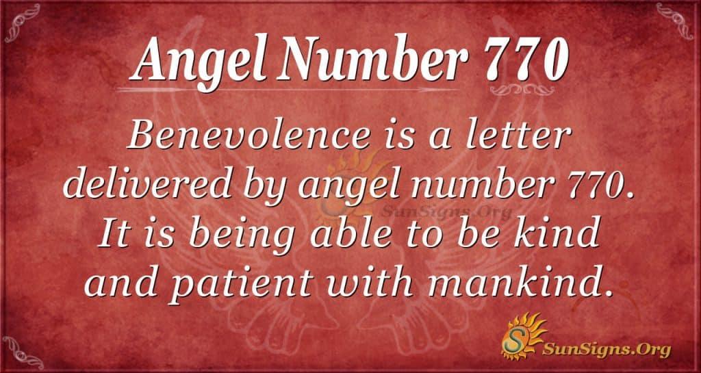 Angel Number 770