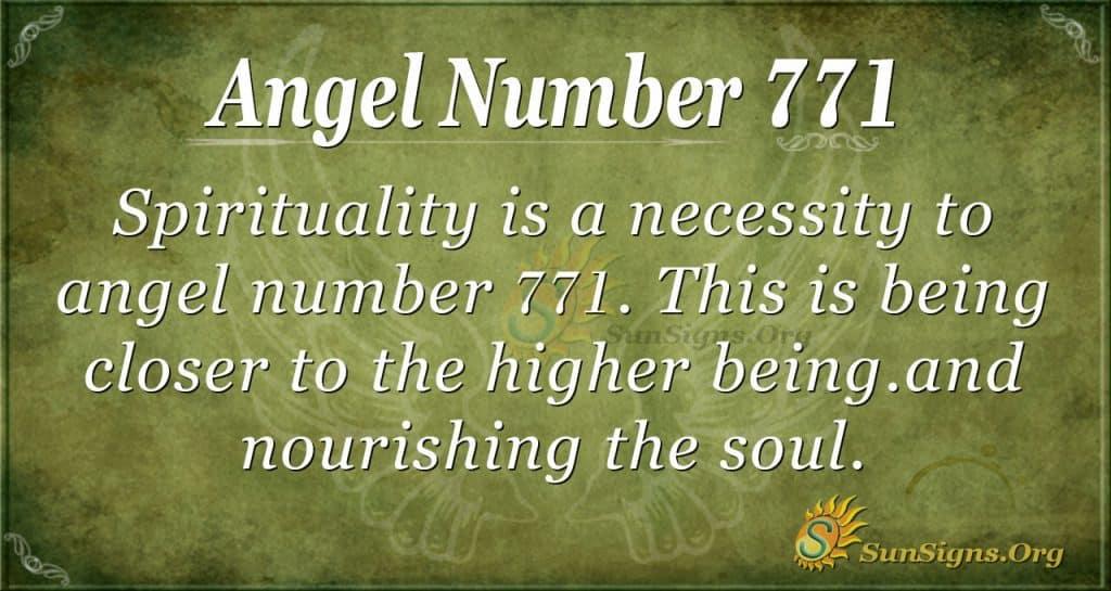 Angel Number 771