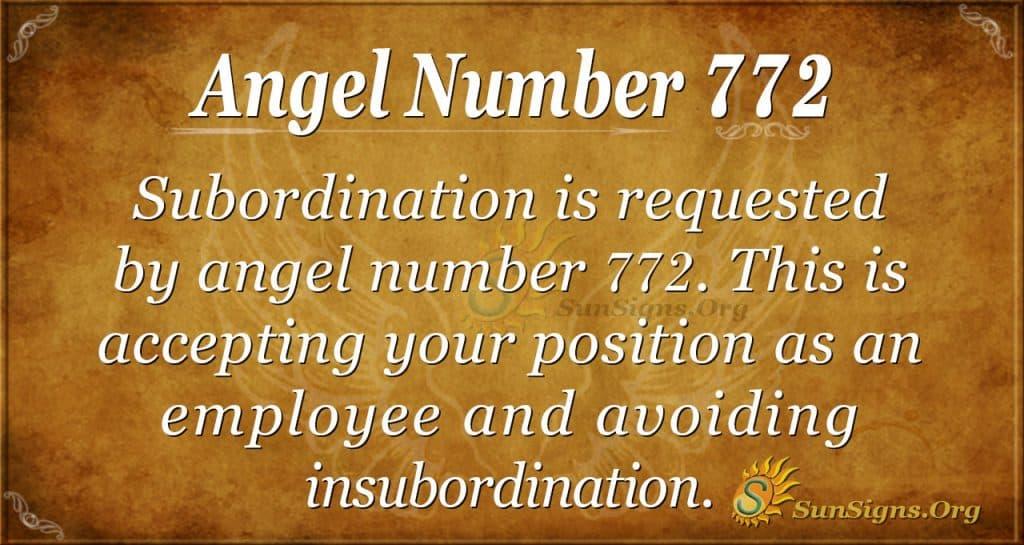 Angel Number 772