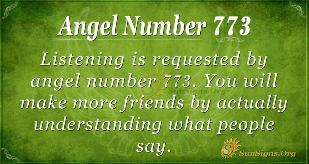 Angel Number 773