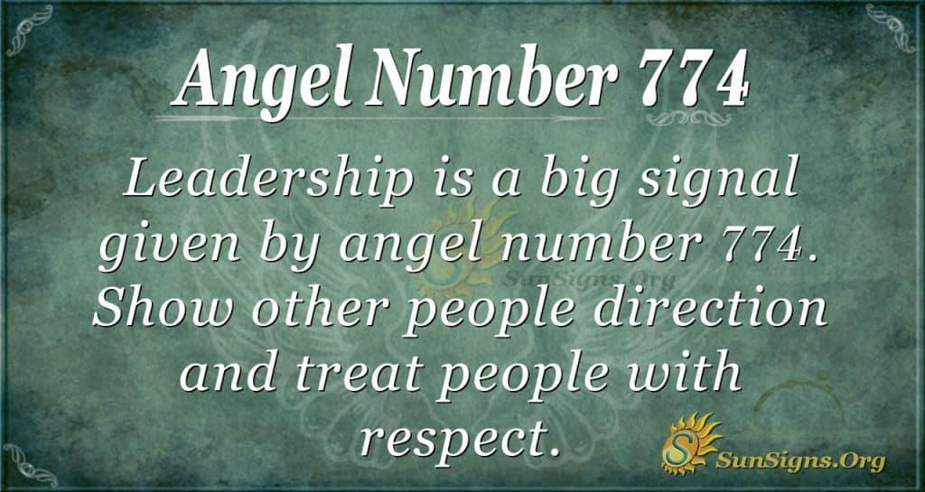 Angel Number 774